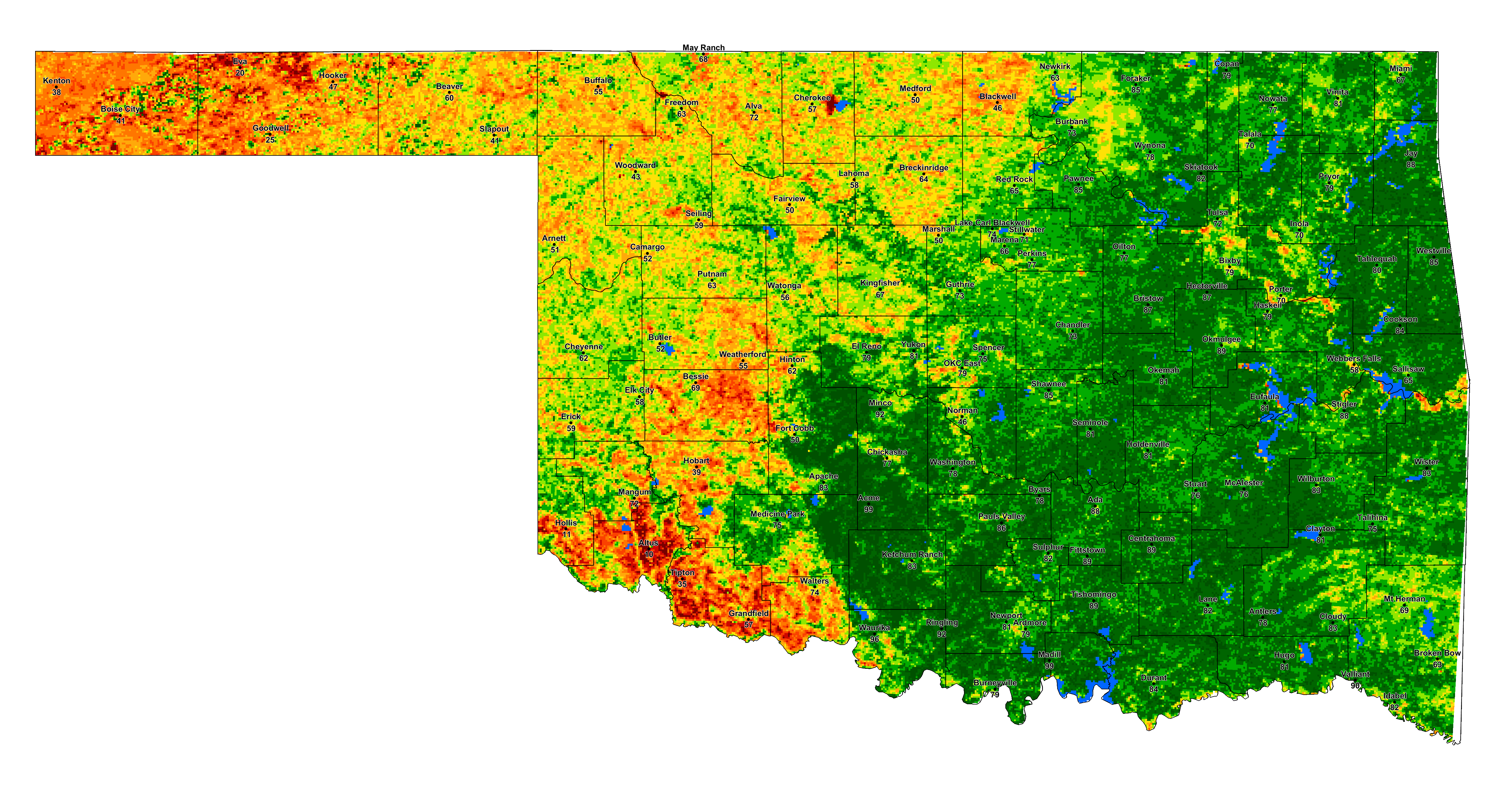 Relative Greenness Map Zoom