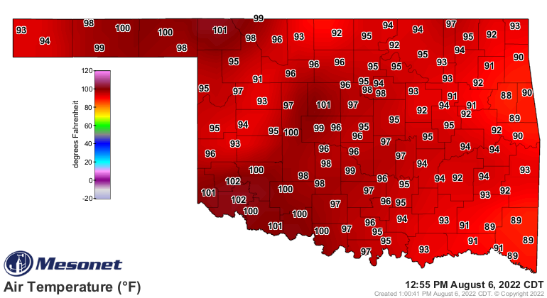 current temps in Oklahoma