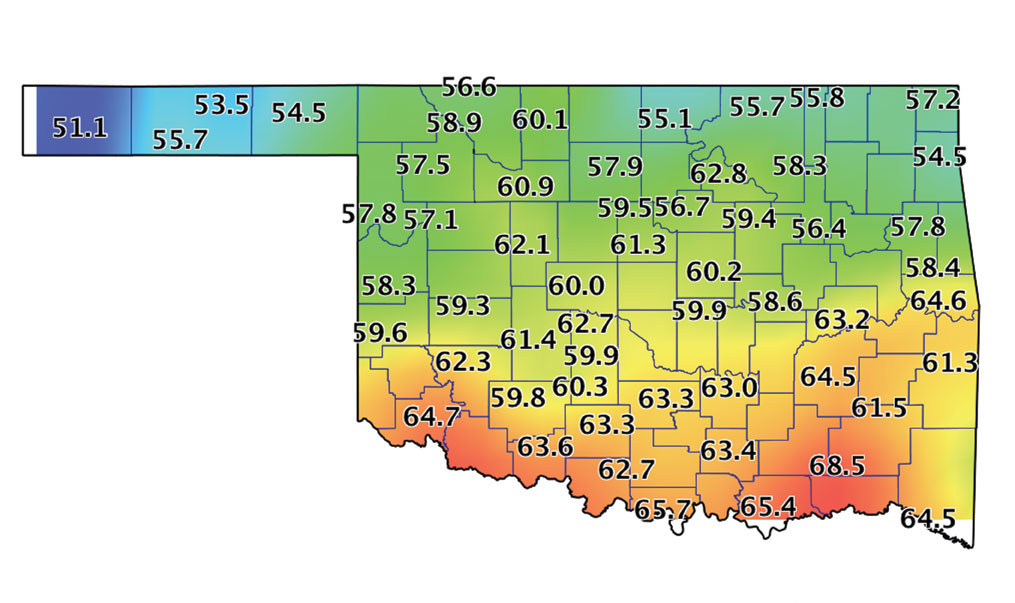 Mesonet earthstorm study tools for Soil temperature map